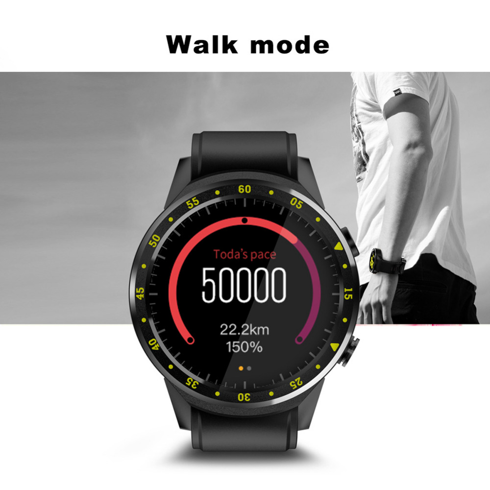 2020 New Bluetooth 4.0 Full Round High definition IPS Touch Screen Chip Smart GPS Sports Watch Phone for IOS /Android /Samsung - 6
