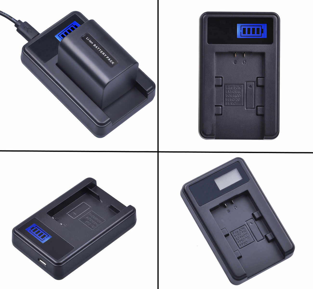 LCD Fast Battery Charger for Sony DCR-HC20 DCR-HC23 DCR-HC20E DCR-HC21 DCR-HC21E DCR-HC23E Handycam Camcorder DCR-HC22E DCR-HC22