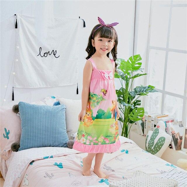 Girls nightgown 2018 summer new children\'s sleepwear girls Camisole ...
