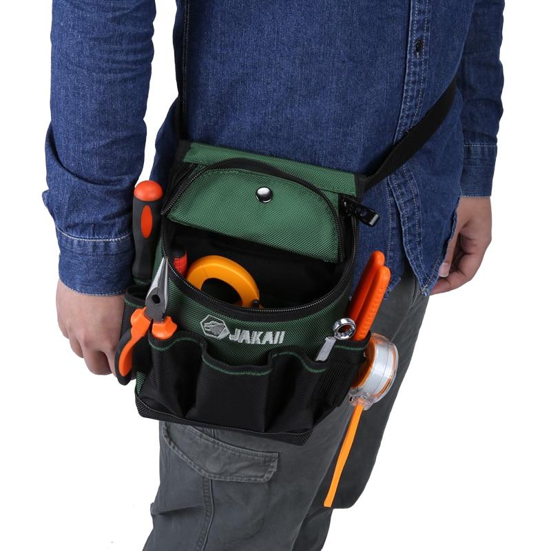 JAKAH Electrician Waist Bag Tool Holder Convenient Work Organizer Pouch Belt Men Multi-Pockets Tool Bag For Hand Tools