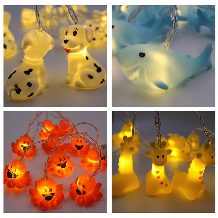 Garland Novelty Light Lovely Mini Animal Night Light Fairy String Light Nightlight Battery For Children Baby Decoration Gift