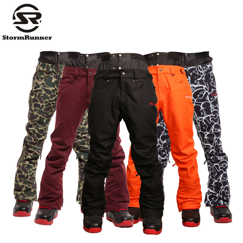 Free Shipping NEW Winter Sports Man Snowboard Ski Pants ,HIGH QUALITY Different Color Big Code Wind Proof Snowboarding Ski Pant