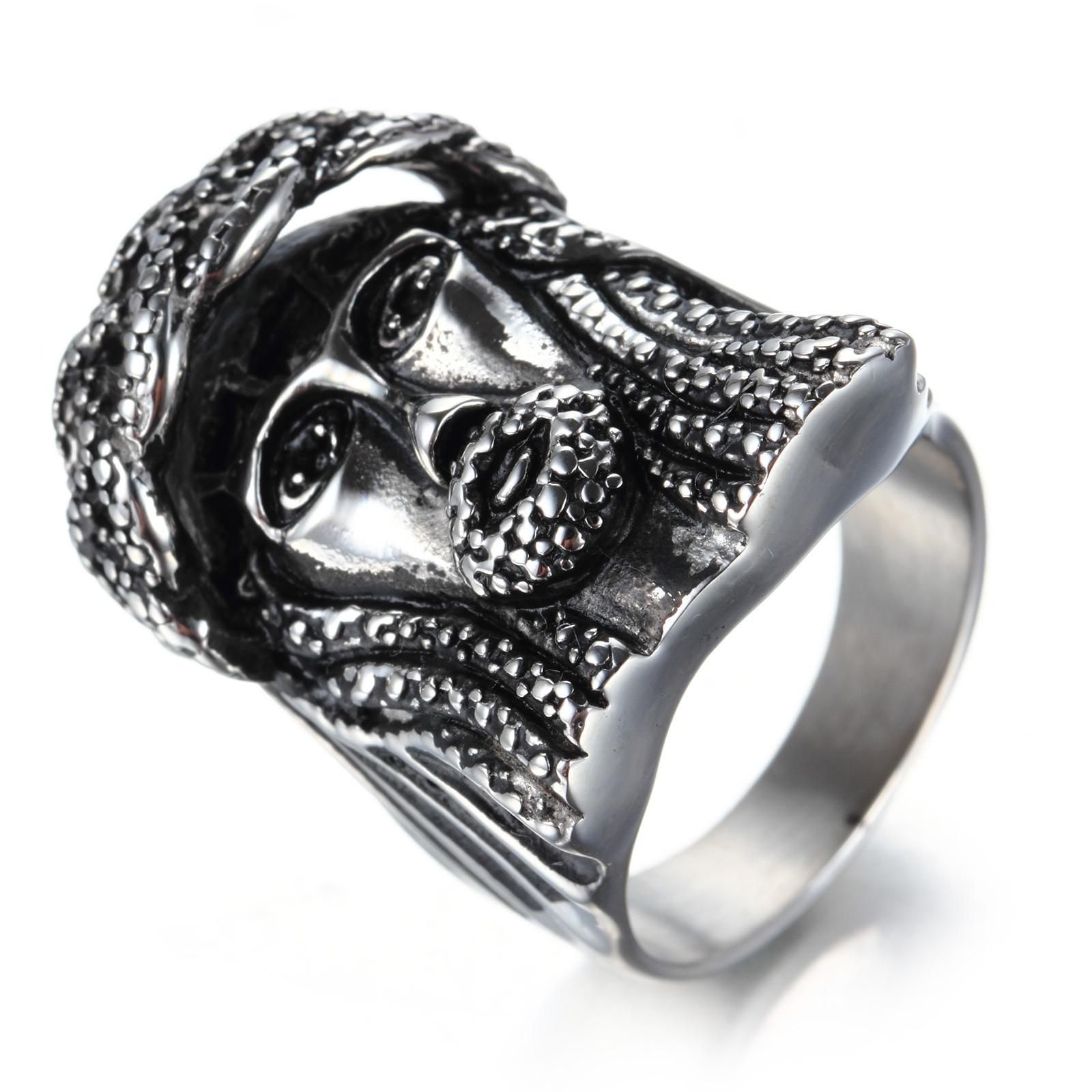 Hip hop schmuck  Online Kaufen Großhandel jesus kopf ring aus China jesus kopf ring ...