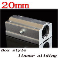 1 pçs/lote SC20LUU SCS20LUU 20mm mm eixos CNC Router Linear Ball Bearing Bloco para 20 travesseiro Frete grátis