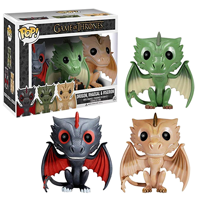 Funko POP Official Game of Thrones RHAEGAL VISERION DROGON Vinyl Action Figure Collection Model Toys for Kids Children Gifts