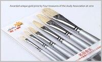 Professional Mix Animal hair Painting Brush,6 pcs/set Acrylic PaintBrush,oil brush free shipping