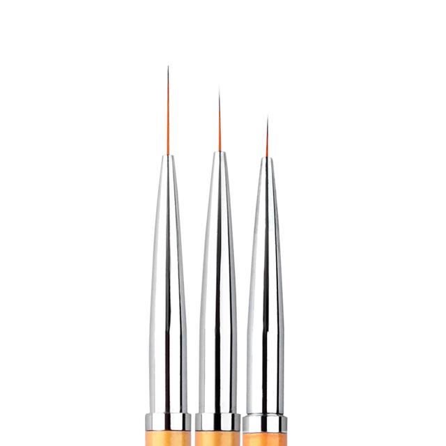 High Quality Nail Art Painting Pen Brushes 3 pcs Set
