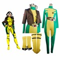X-men Rogue Superhero Marie D'Ancanto X Hombres Catsuit Mono Mono Cosplay Traje de Halloween Mujeres Niñas Adultos