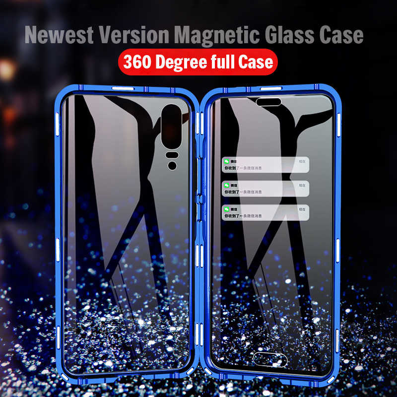 Magnetic 360 Full Body Metal Bumper Glass Case For Huawei P20 Pro Cover P20Pro Magnet Back Cover Huawei P20 Pro Case P 20 funda