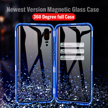 Magnetic 360 Full Body Metal Bumper Glass Case For Huawei P20 Pro Cover P20Pro Magnet Back P 20 funda