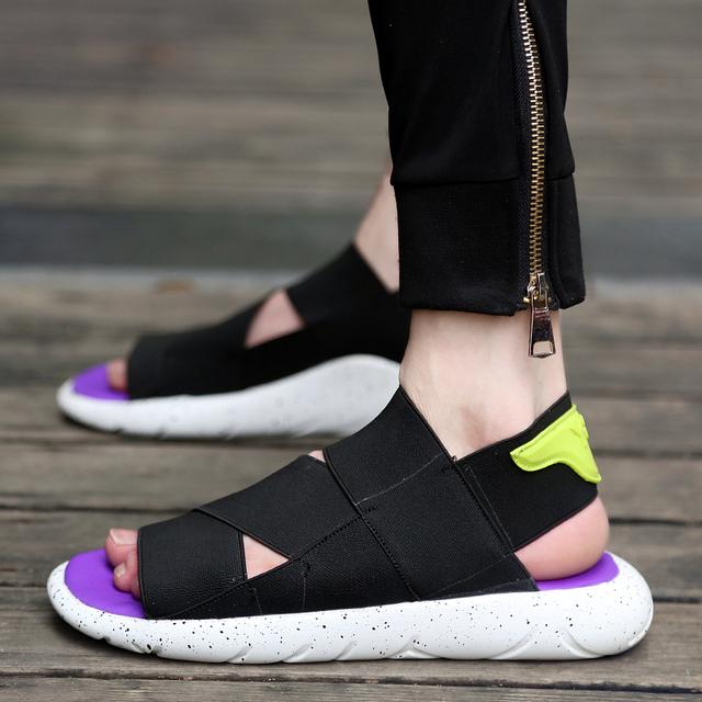 Estilo del verano Sandalias de Los Hombres Diseñadores Sandalias Hombre Sandalias de Playa Zapatos de Los Hombres Sandalias de Cuero de la Marca Para Los Hombres Zapatos 2016