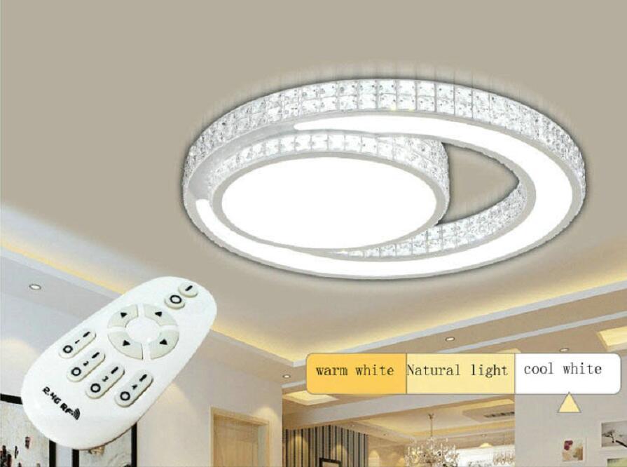 Здесь можно купить   foyer led ceiling Lights acrylic living room bedroom crystal ceiling lamp lamparas de techo fixtures lighting luminaire lamps Строительство и Недвижимость