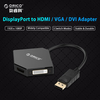 ORICO DPT HDV3 WH DP To HDMI DVI VGA Adapter To Thunderbolt Cable DisplayPort Display Port