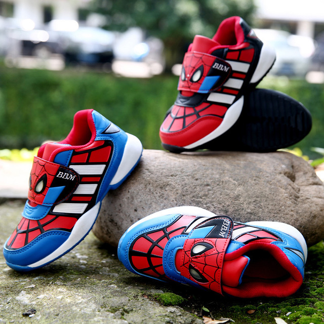 649f51f53cf242 Sneakers Children Superman Spiderman Batman Kids Shoes 2015 new Spring and  Autumn Boys Skinned Face Casual Shoes Wholesale
