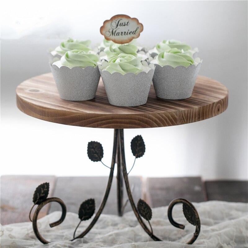 Restaurer des manières anciennes cadre de pied haut mariage anniversaire jour Prop pendule marchandises de meubles que d'utiliser plateau à gâteau plate-forme de Dessert