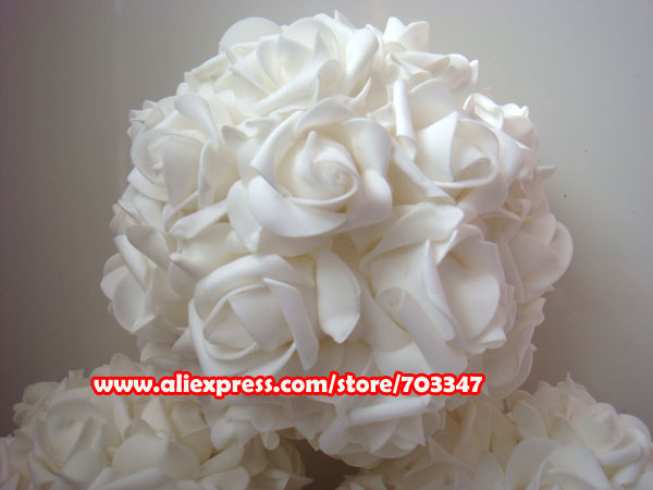 "(16pcs/lot) 9"" 23CM  Kissing ball  Centerpiece Artificial Foam Rose Flowers  Decorative Flowers & Wreaths   FREE SHIPPING"