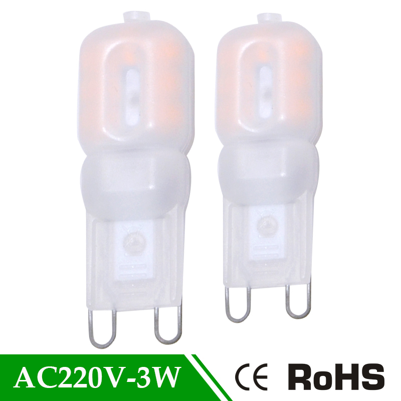 AC 220v 3W <font><b>LED</b></font> Lamp PC Mask 360 Degree Beam Angle Spotlight Replace Lamps SMD 2835 Bulb Light <font><b>G9</b></font> Lamp <font><b>Led</b></font> <font><b>G9</b></font> 220v <font><b>Cob</b></font> <font><b>LED</b></font> Light