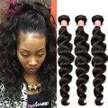 Малайзии Свободная Волна Девы Волос 3 Bundle Предложения Малайзии Вьющихся Волос Weave Малайзии Девы Волос Свободная Волна Человеческих Волос