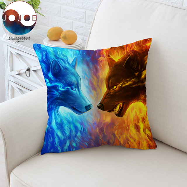 Fire And Ice By JoJoesArt Cushion Cover 40D Printed Pillow Case Stunning Ice Blue Decorative Pillows