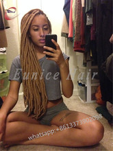 14/18 INCH African LOCS Crochet Braiding Hair Extensions Products,24 Strands/Piece Synthetic interlock style alibaba braids