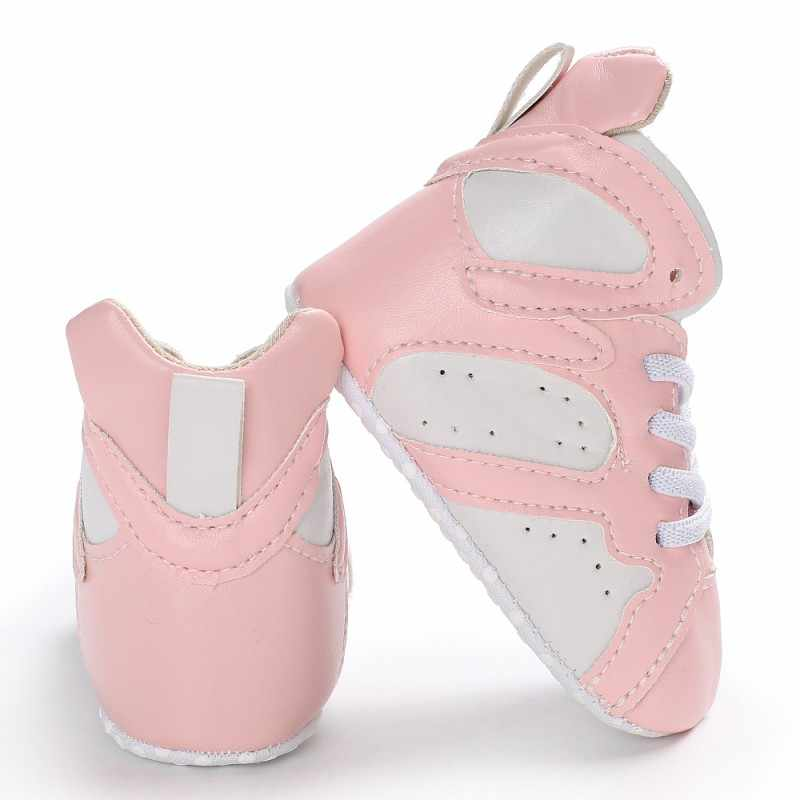 b7f0ffa1d Baby boys girls moccasins shoes soft sole infant baby sneakers Newborn  first walker boot Basketball shoes