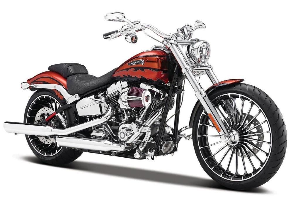 Maisto 1:12 Harley 2014 CVO BREAKOUT Motorcycle Diecast Metal Bike Model Free Shipping