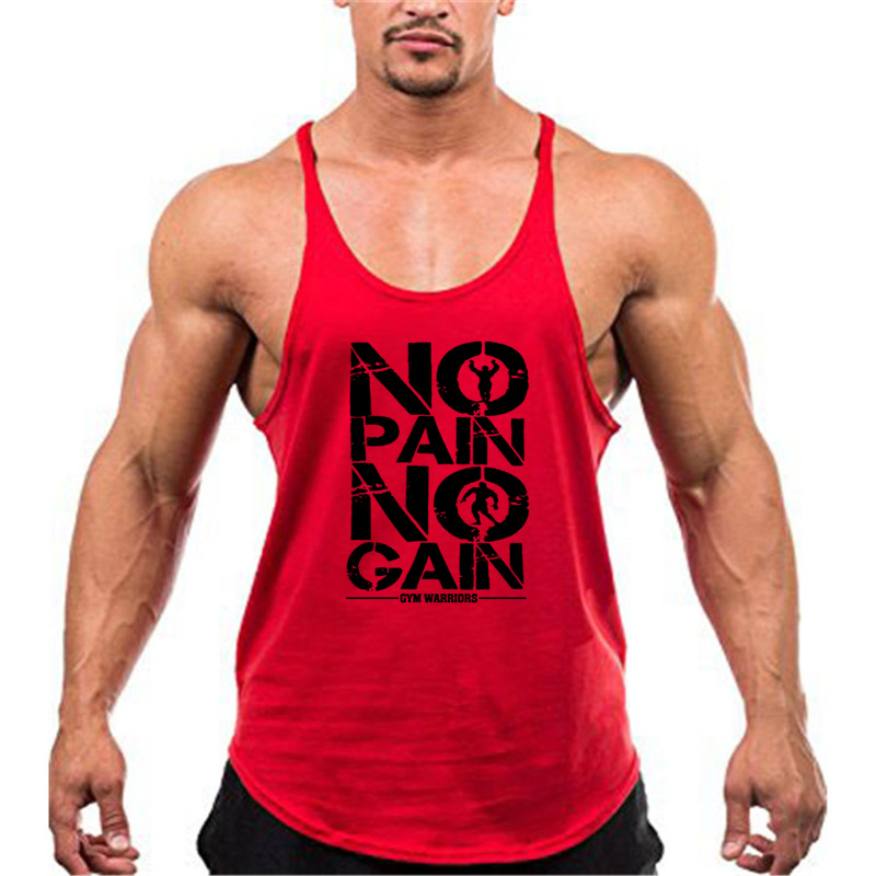 Brand Clothing Muscle Bodybuilding Stringer Tank Top Mens Fitness Singlets Cotton Sleeveless shirt Workout Sportwear Undershirt 25