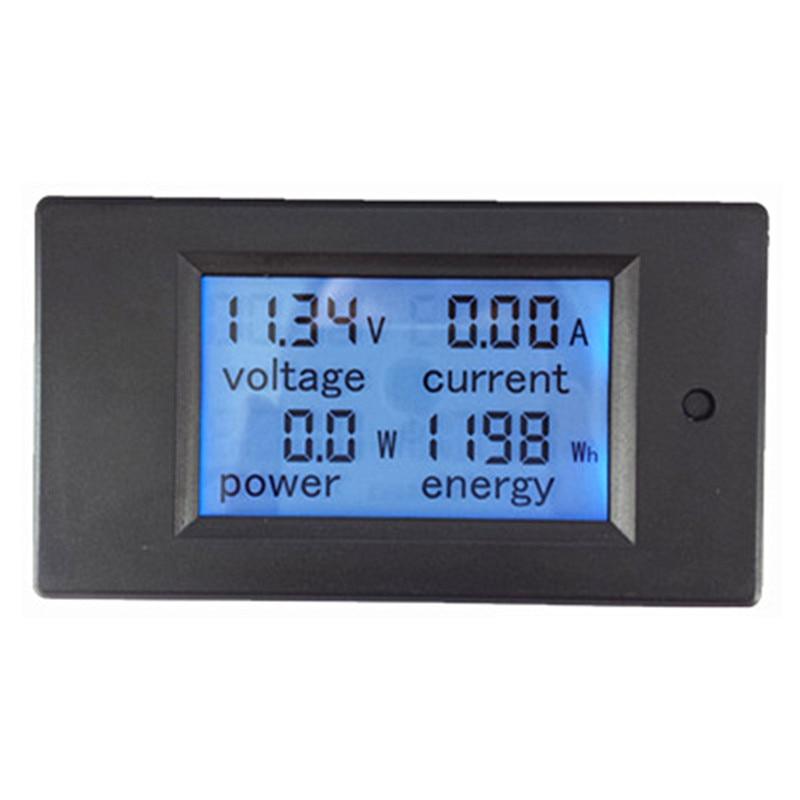 Peacefair AC Single Phase Digital LCD Ammeter Voltmeter 80 260V 20A ...