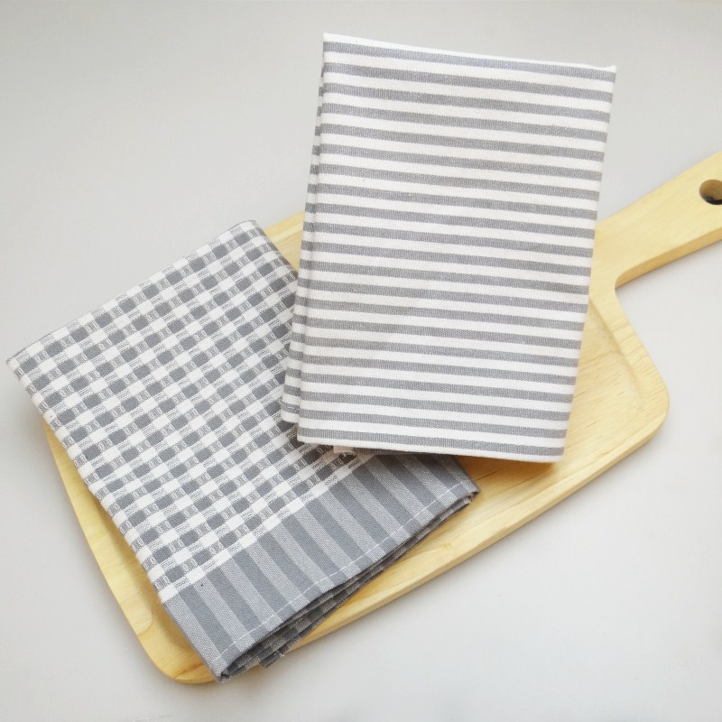 4pcs Creative lattice striped cloth table mats Japanese cotton and linen insulated meal Napkins Placemats
