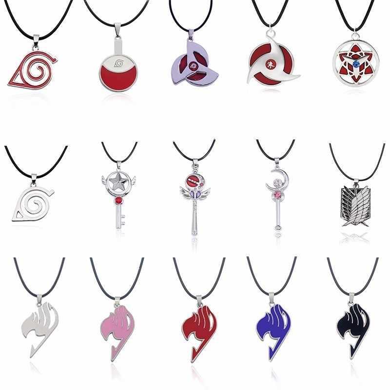 Trendy Japan Anime Necklace Naruto Symbol Pendant Ninja Sailor Moon Pendant  Fairy Tail Uchiha Sha Rinn Gann Necklaces&Pendants