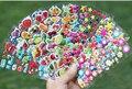 50 hojas/porción Niños Niño de la Historieta Animales Patrón Emoji Coches Puffy Pegatina Recompensa Maestro Princesa 3D Pegatinas para niños juguete
