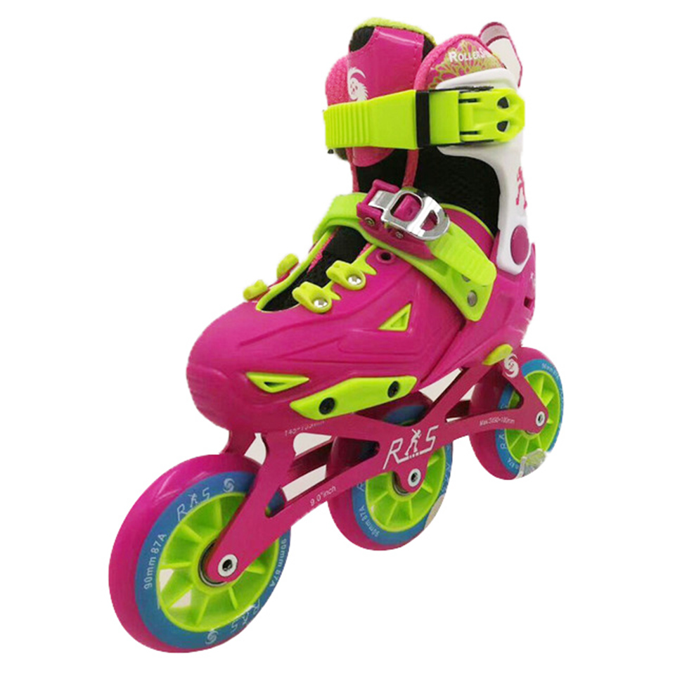 Kid's 3*90mm Speed Inline Skates EUR Size 28-39 Adjustable Street Racing Children Free Skating Shoes Training Patines