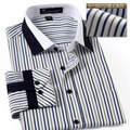 Special Offer Real Striped Spring Fashion England Style Casual Businese Shirt Male Stripe Long-sleeve Slim Dress Shirts
