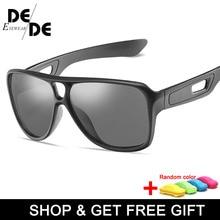 The New Men Polarized Sunglasses Luxury Brand PC Frame Glasses Women Bright Black UV400 Goggles Gafas De Sol with box