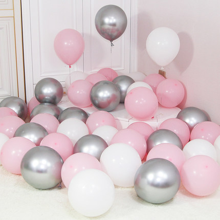 12pcs/lot Gold Silver Chrome Metallic Balloons For Wedding Bridal Shower Theme 2