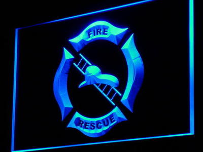 i901 Firefighter Helmet Ladder Fire Decor Neon Light Sign On/Off Swtich 20+ Colors 5 Sizes