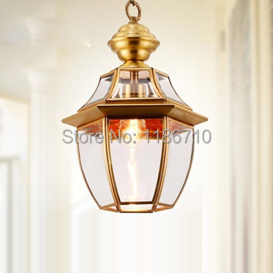 Factory direct sales of crystal pendant lamp copper lamp pendant light American pastoral style Including LED bulbs