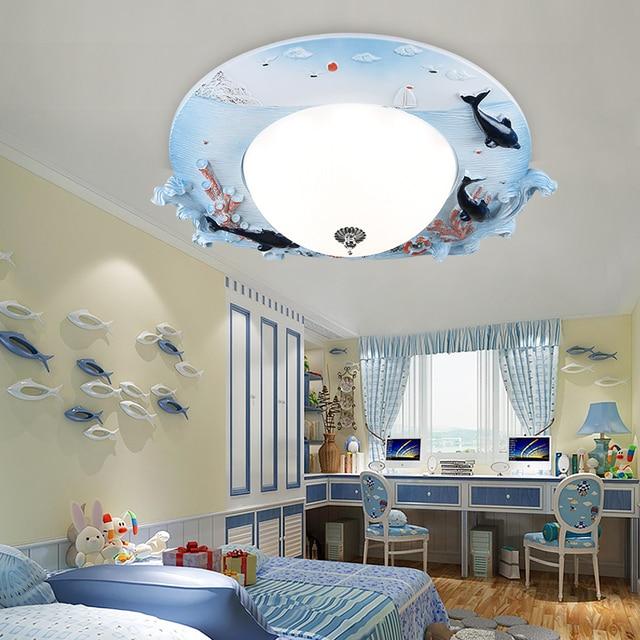 Cartoon kleuterschool jongen LED lampen plafond Kinderen lamp ...