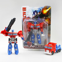 12 14cm Optimus Prime Starscream Deformation robot fancy hot style Cars Action Figures Kids Education Toy