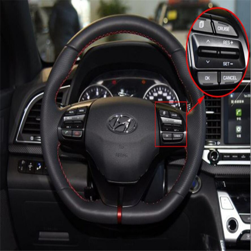 ФОТО For Hyundai Elantra Movable Collar Steering Wheel Button Factory Price Steering Wheel Audio Control Button OK Switch