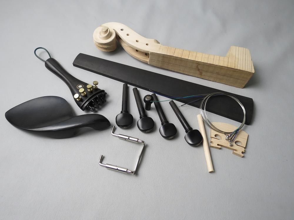Sports & Entertainment Stringed Instruments 1set 3/4 Violin Part,include Neck,fingerboard,pegs,tailpiece,bridge Nourishing The Kidneys Relieving Rheumatism