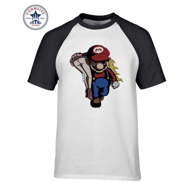 2017 Hot High Quality Cotton Super Mario Shirt Cartoon Super Mario Bros Cotton Funny T Shirt