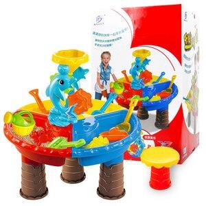 Летние игрушки, игрушки для игры в воду для родителей и детей, интерактивные пляжные игрушки, игровой домашний пляжный стол, набор пляжных и...