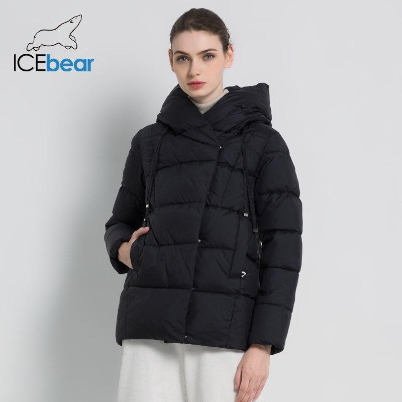 ICEbear 2019 new winter women s coat brand clothing casual ladies winter jacket warm ladies short
