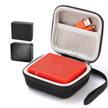 Square Speaker Case Travel Cover For GO GO 2 Bluetooth Speakers Sound Box Storage Carry Bag Pouch Mesh Pocket Strap Handbag Case(China)