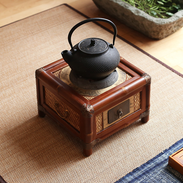 Antiken tee holzkohle bambuskohle herd herd tee wasserkocher ...