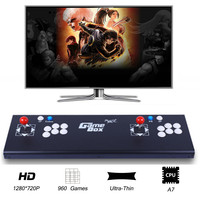 Marwey Classic Game Console 960 Games Metal Game Box 2 Players Arcade Video Joystick High Deifnition
