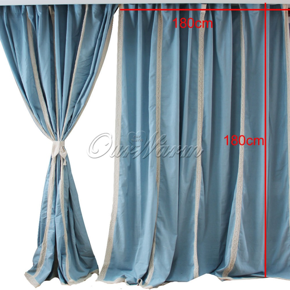 Cotton lace curtains - Aliexpress French Country Blue Cotton Linen Crochet Lace