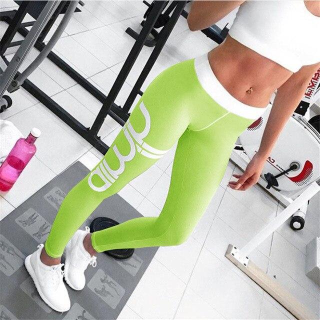 Casual Leggings for Women 2017 Brand New Arrival Multi Color Letter Printed leggins mujer Fitness legins Women Black Sportswear