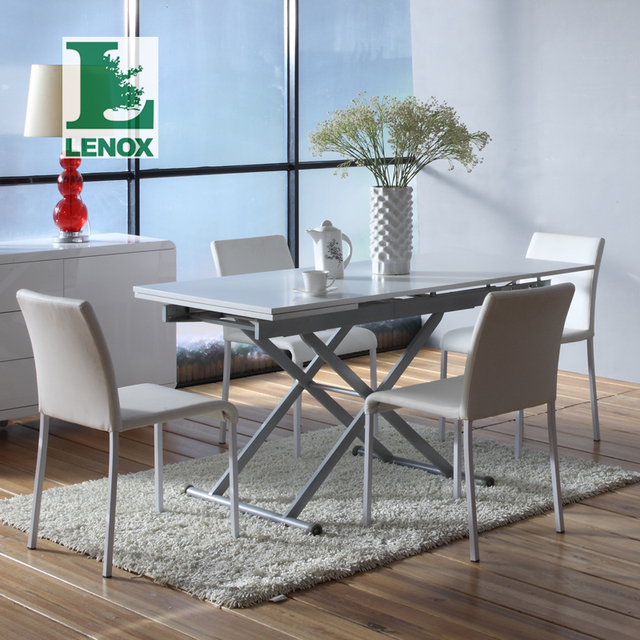 Lenox Combination Telescopic Multipurpose Folding Table Small Dining Table  Table Small Apartment Minimalist Modern Furniture